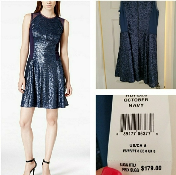 RACHEL Rachel Roy Dresses & Skirts - Fit and Flare Chiffon and Sequin Dress